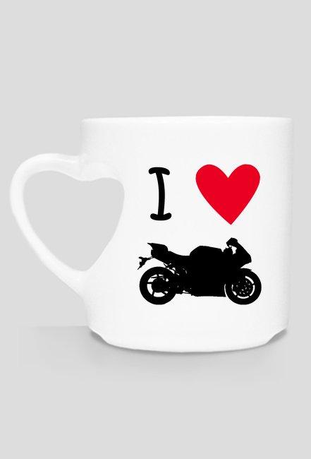 Kubek serce kocham motocykle
