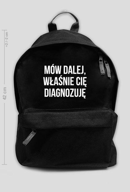 DIAGNOZA - plecak duży czarny