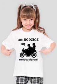 Moi rodzice są motocyklistami - koszulka damska