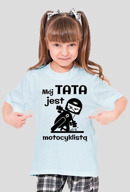 Mój tata jest motocyklistą - koszulka damska