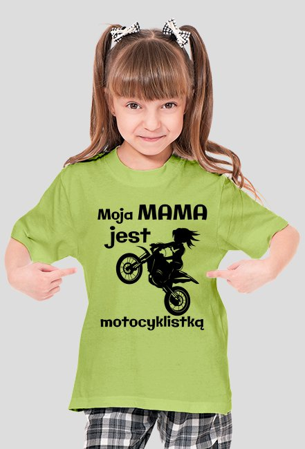 Moja mama jest motocyklistką - koszulka damska