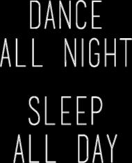 Koszulka damska DANCE SLEEP ALL czarna