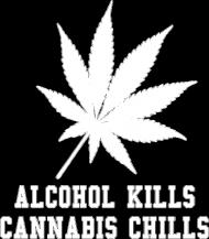 Koszulka damska ALCOHOL CANNABIS czarna