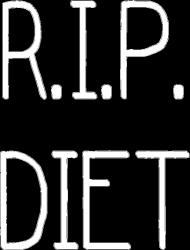 Koszulka damska R.I.P. DIET czarna