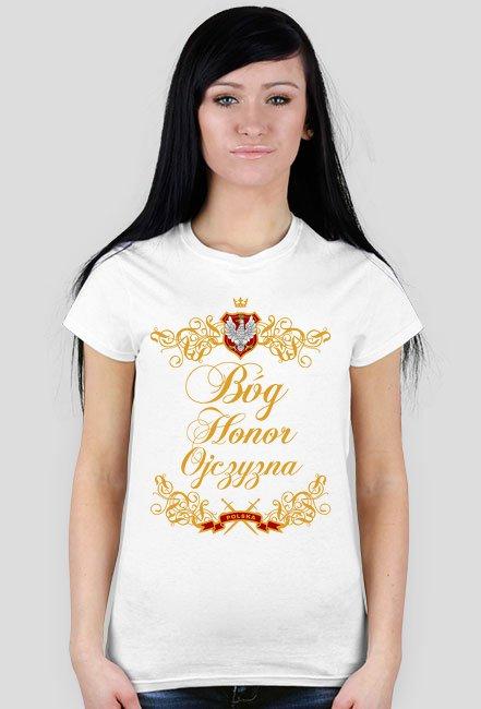 Bóg Honor Ojczyzna biała damska