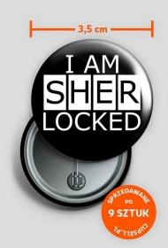 I am Sherlocked - przypinki (9 sztuk)