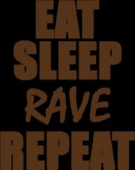 Koszulka męska - Eat, sleep, rave, repeat