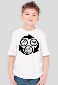 Koszulka dziecięca - Eat, sleep, rave, repeat