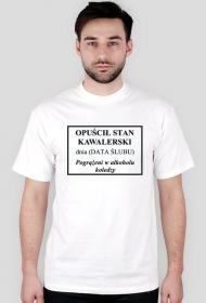 Prezent na wieczór kawalerski - koszulka z własną datą ślubu