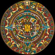 Koszulka z azteckim kalendarzem damska