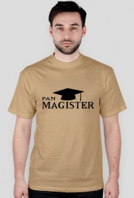 Pan magister - czarny nadruk koszulka