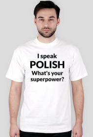 I speak polish czarny napis