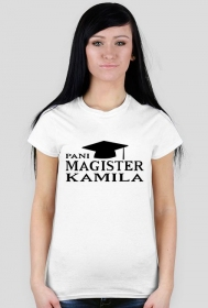 Koszulka Pani Magister z imieniem