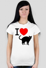 Kocham koty - koszulka damska