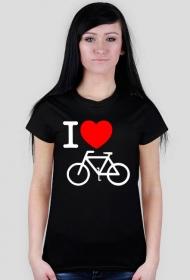 I love rower - czarna damska