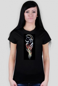 Wilk tribal - koszulka damska