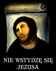 Nie wstydzę się Jezusa koszulka damska