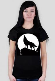 Koszulka z wilkiem - damska