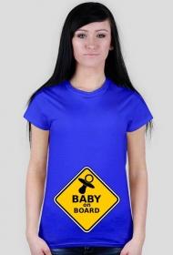 koszulka dla ciężarnej - Baby on board