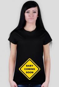 Koszulka dla przyszłej mamy - Baby coming soon