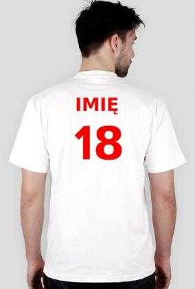 Koszulka na 18 urodziny z imieniem