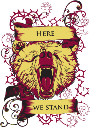 koszulka Gra o tron - Here we stand