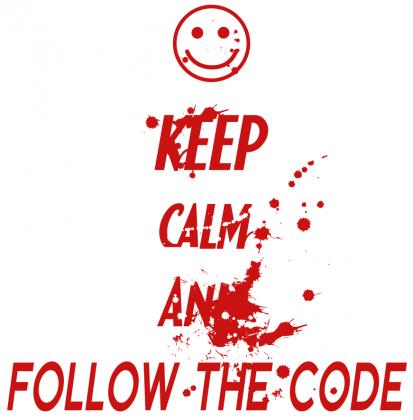 Koszulka Dexter - Keep Calm and follow the code