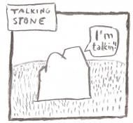 Talking stone - torba biała