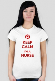 Keep calm I'm a nurse Red