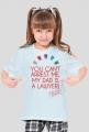 Koszulka dziewczęca - tata prawnik