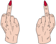 Middle finger
