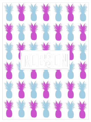 Rob$on - Kolorowe Ananasy - Czarna Bluza