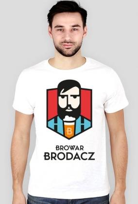 Browar Brodacz koszulka męska biała
