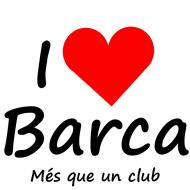 Koszulka damska I love Barca Kocham Barce