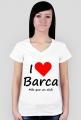Koszulka damska dekolt I love Barca Kocham Barce