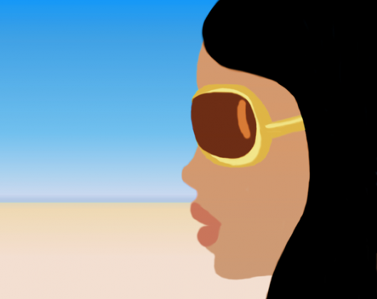 Drawing - Woman in Sunglasses