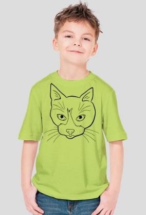 Line art - głowa kota