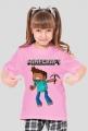 """Koszulka """"Minecraft"""" Dziecięca (Dziewczyna)"""