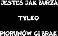 JESTEŚ JAK BURZA