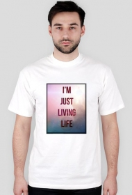 "Koszulka męska KRSN ""Im just living life"""