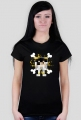Koszulka czarna, damska, z logiem