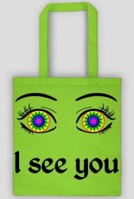 I see you! Zielona torba