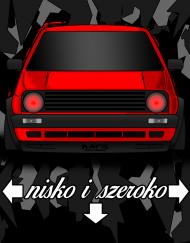 Golf MK2 nisko i szeroko Red