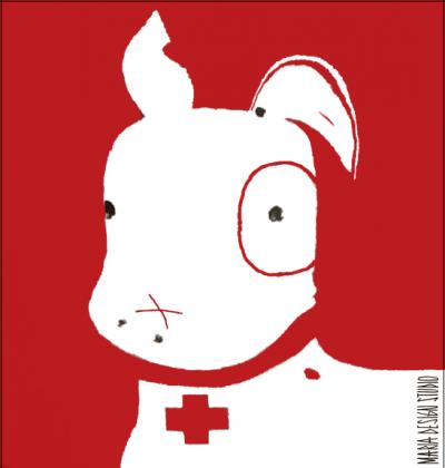 TShirt Pies Max (M) Biała