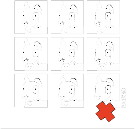 TShirt Pies Max 3x3 B/W (K) Biała