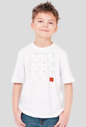 TShirt Pies Max 3x3 B/W (Chłopiec) Biała