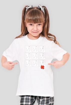 TShirt Pies Max 3x3 B/W (Dziewczynka) Biała