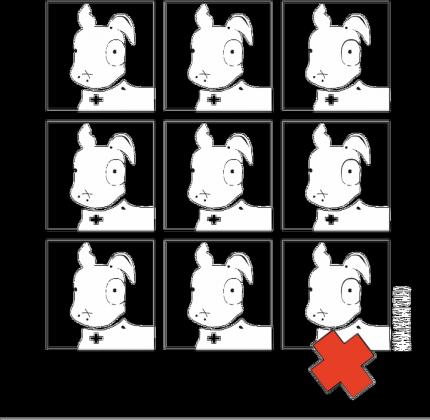 Poduszka Pies Max 3x3 B/W