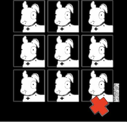 Bluza Pies Max 3x3 B/W (M) Biała z kapturem