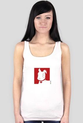 TShirt Pies Max (K) Biała bez rękawków